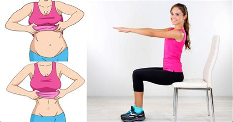 improve your abs and reduce belly right from your chair with these simple exercises