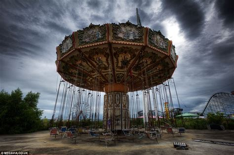 abandoned amusement park six flags theme park in new orleans flooded by hurricane