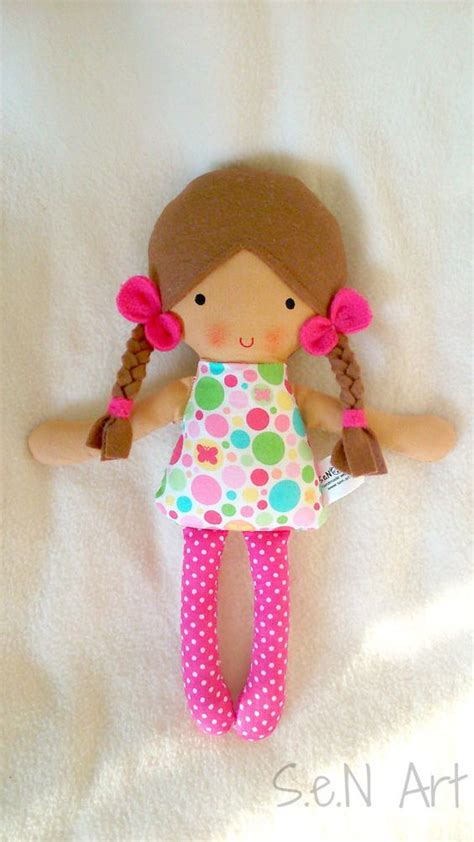 Handmade Soft Toys Free Patterns - baby doll fabric doll made rag dolls textile by