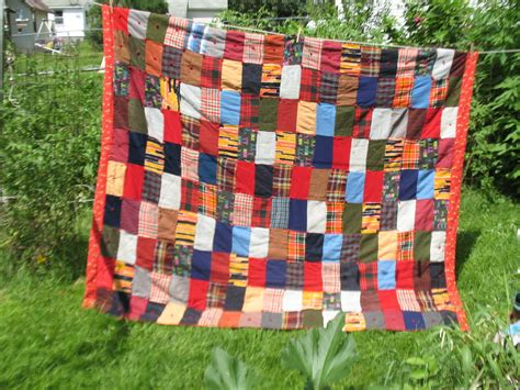 Corduroy Quilts by Vintage Winter Quilt Patchwork Wool Flannel Corduroy