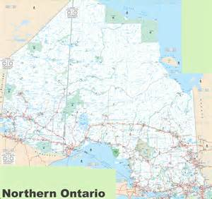 map of northern ontario canada geography maps of ontario