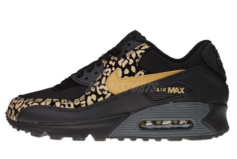 leopard nike running shoes nike wmns air max 90 black gold leopard womens running