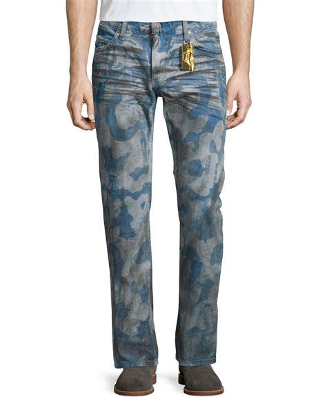 pattern denim jeans robin s jean cloud pattern distressed denim jeans in blue