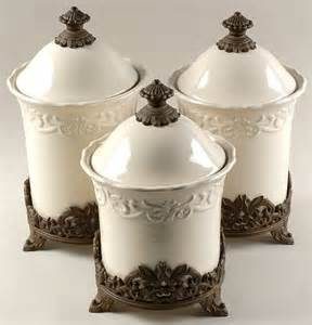 Kitchen Canisters Jcpenney Canister Sets 3pc Canister Set W 3 Metal Stands