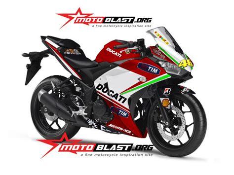 Kaos R15 Yamaha Bikers Bonus Stiker modif striping yamaha r25 bergaya pramac ducati motogp