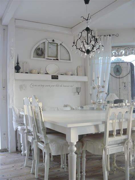 dining room white grey black chippy shabby chic whitewashed igf usa