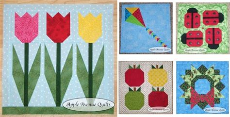Calendar Quilts Block Of The Month Lovely Mini Quilts For Every Month Of The Year Quilting