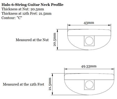 Anatomy Of A Halo Guitar Neck Guitar Radius Template
