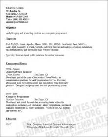 Computer Programmer Resume Template Download A Computer Programmer Resume Template For Free