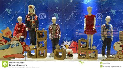 Dress Kid By Z Shop childrens clothing shop window children and spaceflight