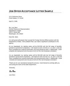 sample job acceptance letter 7 documents in pdf word