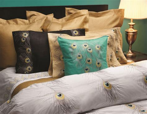 peacock embroidered bedding by anali gracious style - Peacock Bed Linen