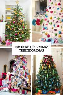 Fall Decorated Trees - 23 colorful christmas tree d 233 cor ideas shelterness