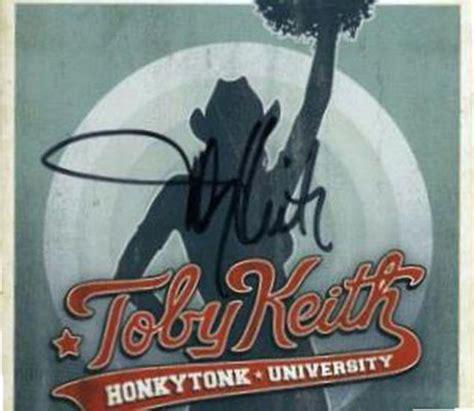toby keith honkytonk university toby keith honkytonk university autographed cd signed