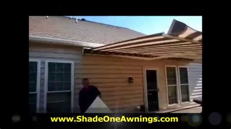 shade one awnings sunsetter side panel setup and takedown by shade one