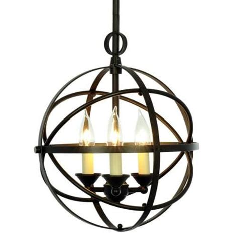Kalung Salib Lighter Bronze 3 3 Cm miseno mlit155389 3 light cage orb chandelier rubbed bronze miseno http www dp