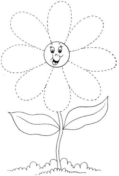flower pattern for preschool free worksheets 187 pictures of flowers to trace free math