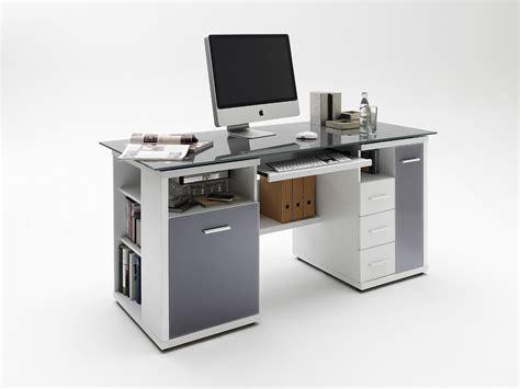 schreibtisch hochglanz grau schreibtisch home office glas grau wei 223 hochglanz ebay