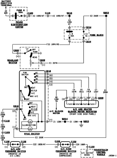 95 dodge dakota blower motor wiring diagram 43 wiring