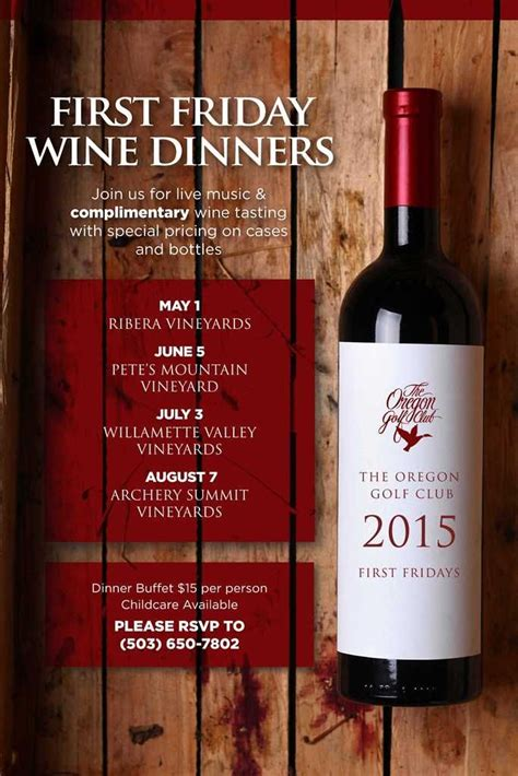 wine flyer template 17 best images about wine dinner event on