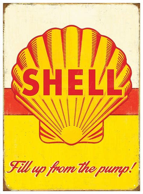 Shell Garage Gift Cards - shell oil metal wall sign