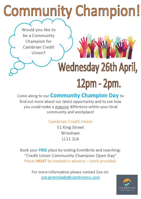 Forum Credit Union Discounts Credit Union Community Chion Event Wrexham