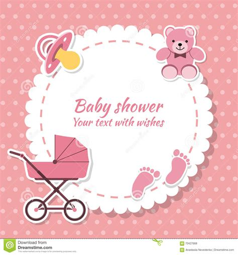 New Baby Card Template by Baby Shower Invitation Card Stock Vector