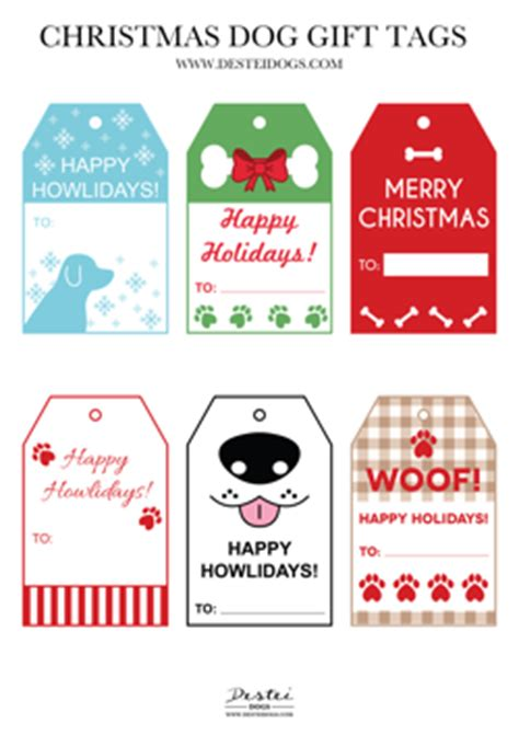 printable dog gift tags free printable dog christmas gift tags destei dogs