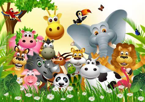dibujos infantiles con animales flores y plantas en la guerra de los animales cuentos educativos