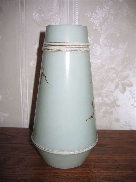 Milk Glass Vases For Sale by Antique Signed Smith Bro S Painted Birds Milk Glass