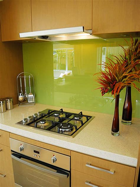 kitchen with glass backsplash green glass kitchen backsplash decoist
