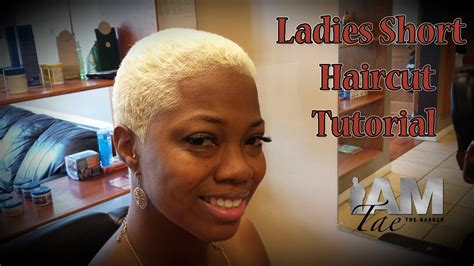 female barber short cuts ladies short haircut tutorial by iamtaethebarber youtube