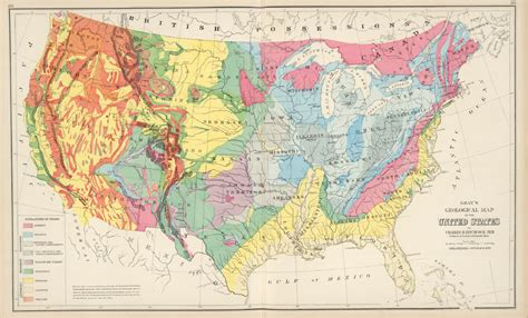 geologic map of united states antique geological maps