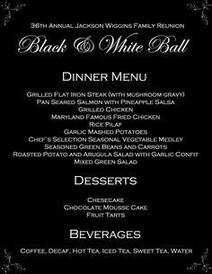 formal dinner menu ideas 1000 images about you re invited on invitations charms and carnival