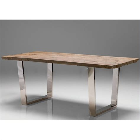 Mobital Provence Dining Table In Polished Steel Provence Dining Table