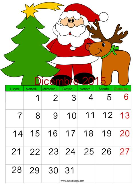Calendario 2015 Per Whatsapp Calendario 2015 Dicembre Tuttodisegni