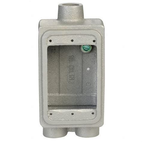 Appeton Box appleton electric weatherproof electrical box 1 3 inlet malleable iron 10l090 fdcc 1
