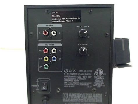 ilive htb  channel home theater speaker system