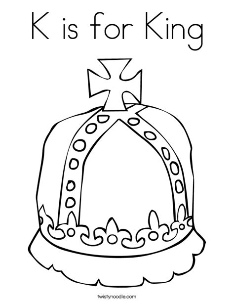 coloring pages king k is for king coloring page twisty noodle