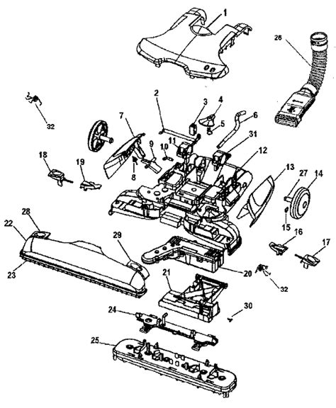 hoover carpet cleaner parts diagram hoover h3000 vacuum repair parts diagrams