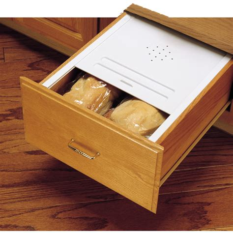 Drawer Bread Box by Shop Rev A Shelf 21 75 In X 20 125 In Plastic Bread Drawer