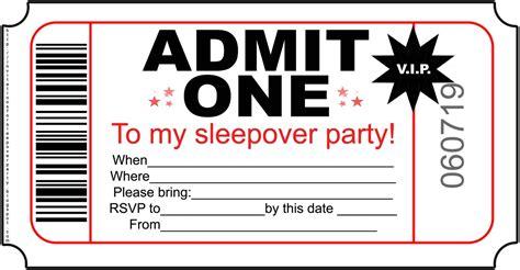 Sleepover Birthday Invitations Template Resume Builder Free Invitations Templates To