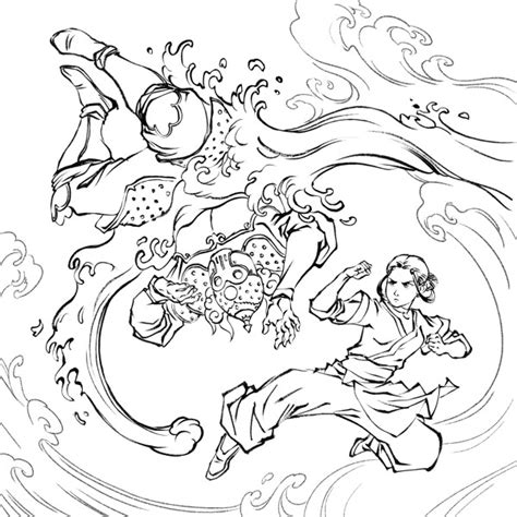 coloring book tpb avatar the last airbender coloring book tpb at tfaw