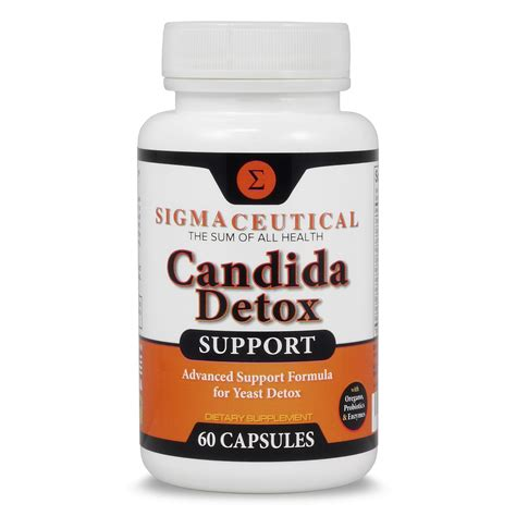 Candida Diet Detox Side Effects by Candida Detox Support 60 Capsules Sigmaceutical