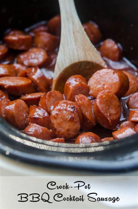 crock pot bbq cocktail sausage
