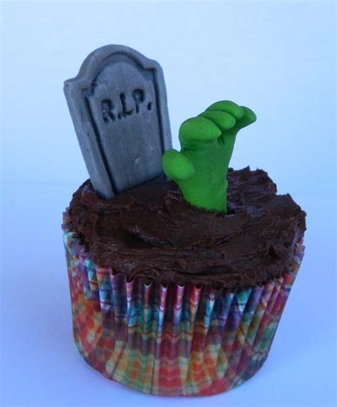 edible halloween grave zombie hand icing cake decoration cupcake topper decoration party