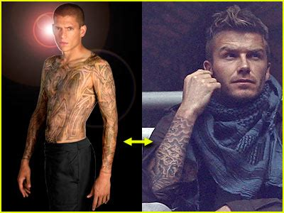 mike miller tattoos david beckham s new prison forearm who