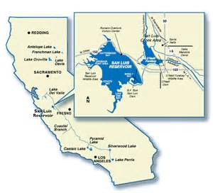 california reservoirs map recreation locations