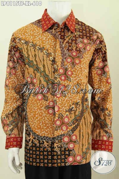 Hem Panjang Size L sedia hem lengan panjang size xl baju batik furing mewah motif terbaru lebih berkelas