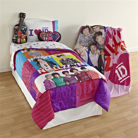 one direction girl s twin patchwork comforter home bed